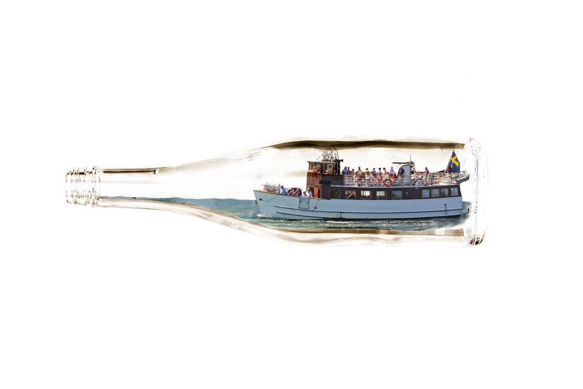m/s Nolhåtten som flaskbåt