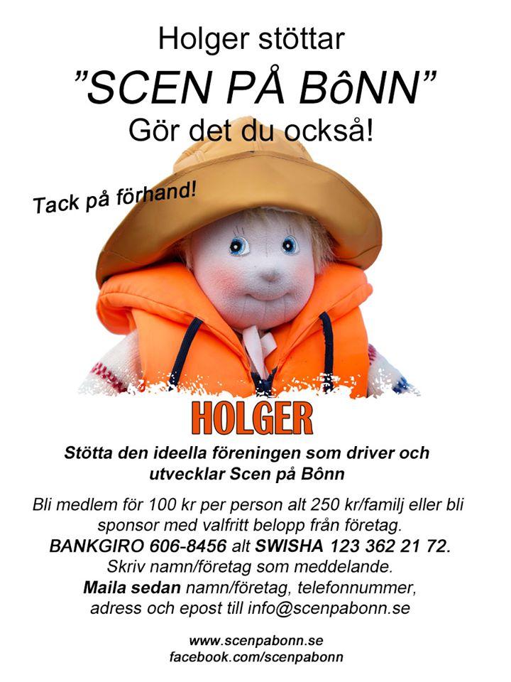 Holger sponsrar